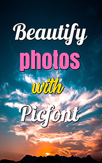 online book cover maker with picfont